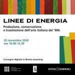 Linee di Energia: a digital conference, streamed live as part of Artissima